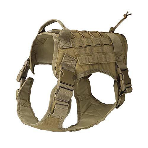 Chaleco arnés para perro QEES, chaleco táctico para entrenamiento de perro, arnés 1000D resistente para perro, chaleco de patrulla, paquete de chaleco GGBX03.
