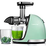 Juicer Machines, AMZCHEF Slow Masticating Juicer Extractor Easy to Clean, Juicer with Quiet Motor Reverse Function Anti-Clogging, Cold Press Juicer with Brush,for High Nutrient Fruit & Vegetable Juice