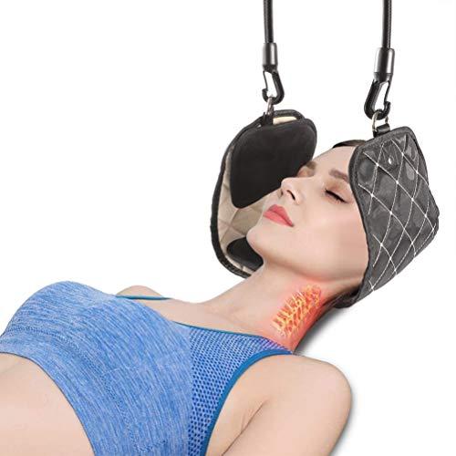 Nacken Hängematte, Hals hängematte Tragbares Zervixzuggerät zur Linderung von Nackenschmerzen und Physiotherapie Nacken Massagegerät für Büro Haus Männer Frauen