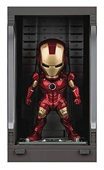 Beast Kingdom Iron Man 3  Iron Man Mk III with Hall of Armor Mea-015 Mini Egg Attack Figure Multicolor