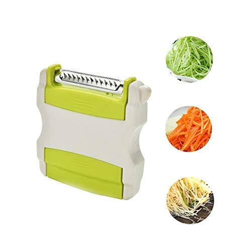 KLYHCHN Retractable portable de frutas y verduras pelador, Shell plástico de acero inoxidable + filo de la navaja Peeler, patata y zanahoria Fruta Peeling máquina de cortar espiral, conveniente for el