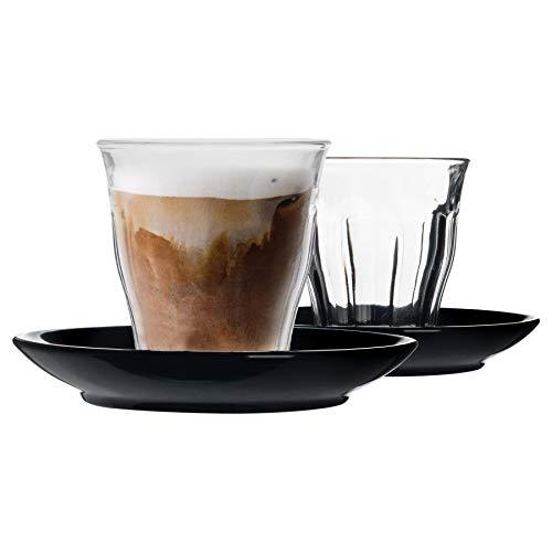 Duralex Picardie - Juego de 12 tazas de café y platillo de...