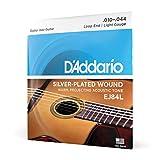 D'Addario EJ84L Cordes pour guitare acoustique jazz manouche Extrémité à boucle Léger 10-44