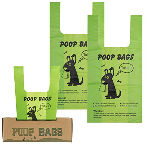 PAWCHIE Biodegradable Dog Poop Bags - Compostable Dog Waste Bags - 200 Removable Bags Per Box,...