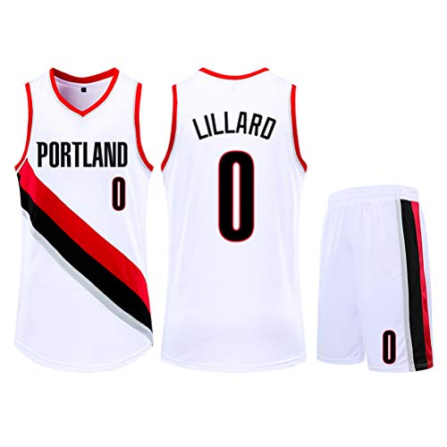 POBD Damian Lillard 0 Portland Trail Blazers Basketball Jersey, sneldrogende sportkleding Sweat-Wicking S-5XL