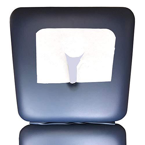 1000 Nasenschlitztücher mit X-Schnitt - 30x40cm - Extra weiche Einweg-Gesichtsauflage für Massageliegen - axiothera