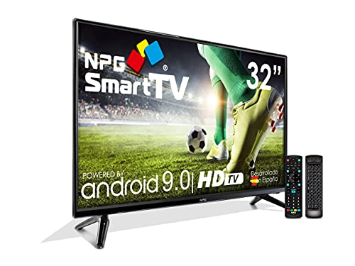"Televisor Televisor LED 32"" HD NPG Smart TV Android 9.0 + Smart Control 