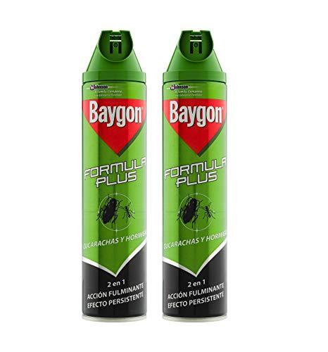 Baygon - Formula Plus Cucarachas y Hormigas, Verde, 600 ml -