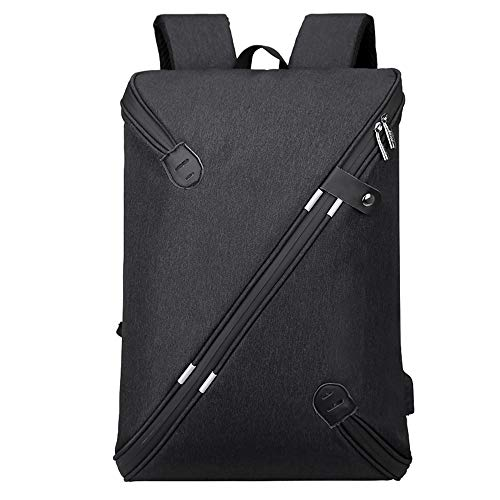 Anti-Theft Laptop Backpack 15.6 Inch Backpack Mens, Business Travel Work School Bag with USB Charging Port, Water Resistant Boy Girl Teen Casual Hiking Computer Daypack-black-M