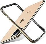 CGGA Bumper de Silicona de Metal de Aluminio de Lujo para iPhone 11 Pro MAX 12 Mini XS x XR 8 7 6S Plus SE 2020 Caso Accesorios Teléfono (Color : Gold, Material : For iPhone 11)