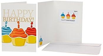 Amazon.com Gift Card in a Greeting Card  Birthday Cupcake Design