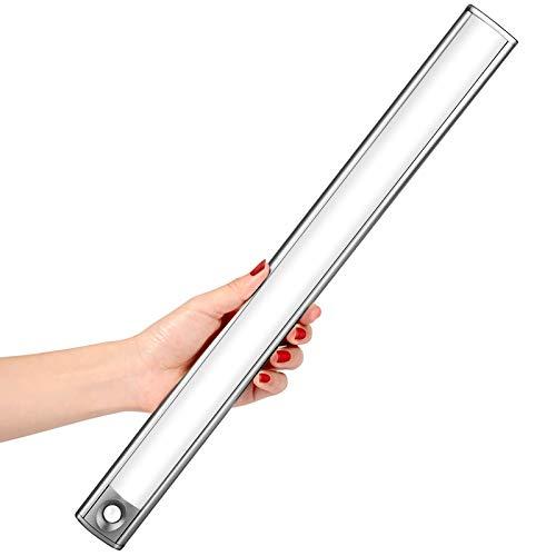 LED Sensor Licht mit 66 LED, LOFTer Schrank Licht mit Bewegungsmelder Lichtleiste für Schrank, 3 Modi Intelligente LED Küchenleuchte, Unterbauleuchte mit Magnetstreifen für viele Räume