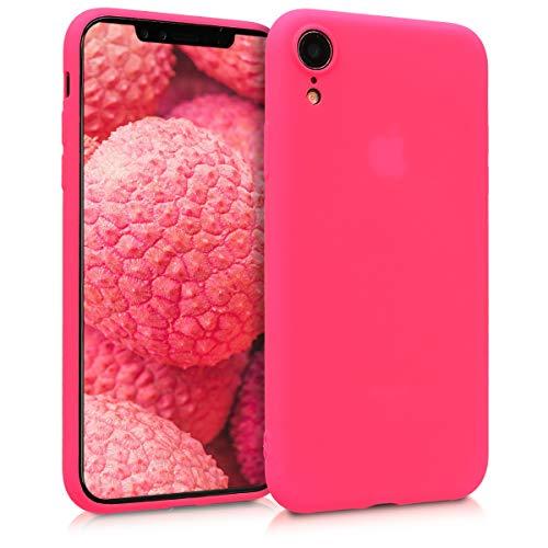 kwmobile Hülle kompatibel mit Apple iPhone XR - Handyhülle - Handy Case in Neon Pink