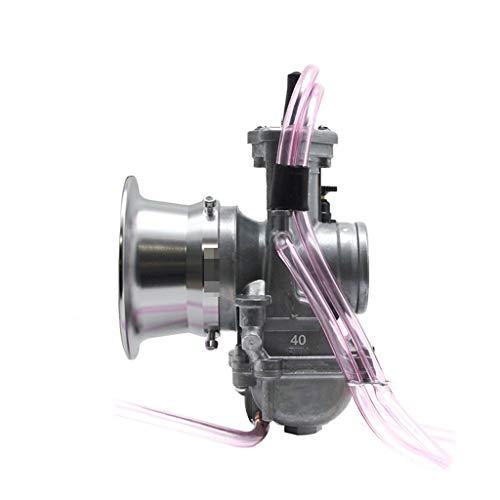Fashion SHOP Carburador Compatible con Keihin PWM 34 36 38 40 42mm Carburetor 2T 4T Motor para Motocicletas Scooter UTV ATV Dirt Bike Usado 250cc Carbohidratos Controlar (Color : 40mm S)