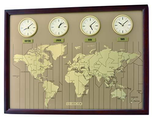 Seiko Wanduhr Reloj de Pared, Madera, marrón, 44,3 x 60,0 x 5,5 cm