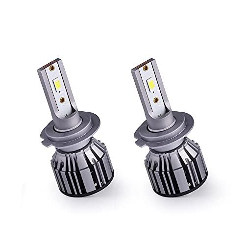 BRUYOMEI Ampoule à LED Ampoule H7 csp Chuce 6500K Cool Blanc Clair Clair Eclairage 80W avec CANBUS Interne