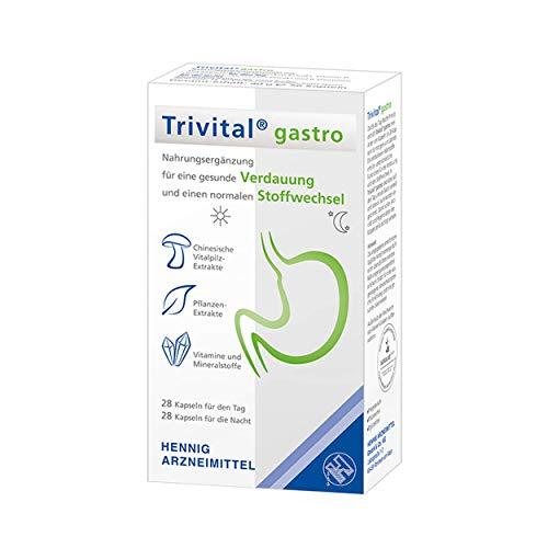 TRIVITAL gastro: Für gesunde Verdauung & normalen Stoffwechsel, vegetarisch, lactosefrei, glutenfrei, 56 Kapseln