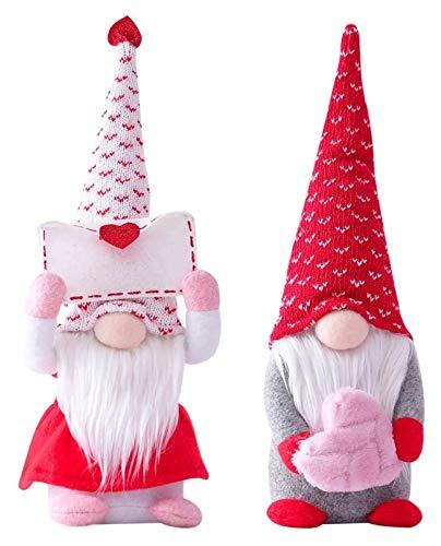 X-LSWAB 2 PCS Día de San Valentín GNOME Gonk Decoraciones Mr. y Sra. Muñeca de Felpa Hecha a Mano escandinava para el Día de San Valentín Adorno de Mesa (Color : Pink)