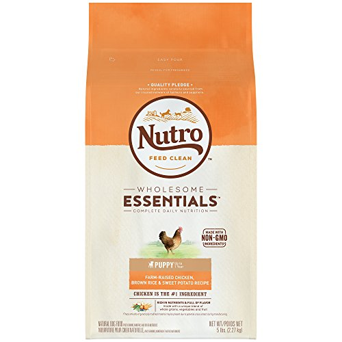 NUTRO WHOLESOME ESSENTIALS Natural Puppy Dry Dog Food Farm-Raised Chicken, Brown Rice & Sweet Potato...