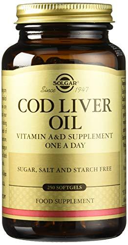 Solgar Aceite de hígado de bacalao Cápsulas blandas - Envase de 250 (E941)