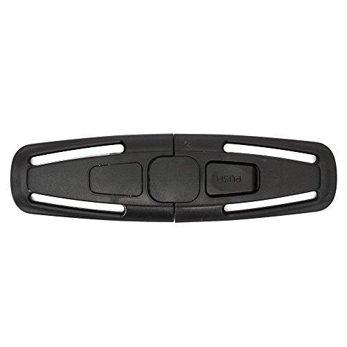 SupplyEU, Verschluss für Sicherheitsgurt, für Auto-Kindersitze, Kinder-Clip, Nylon, Schwarz