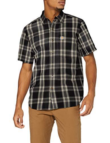Carhartt Short-Sleeve Essential Camicia, Black, 2XL Uomo