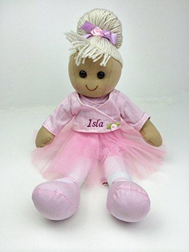 Muñeca de trapo de bailarina personalizable de 16 pulgadas 40 cm. Ideal para regalo.
