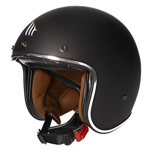 MT Le Mans II · Jet-Helm · Motorrad-Helm Roller-Helm Scooter-Helm Bobber Mofa-Helm Chopper Retro Cruiser Vintage Pilot Biker (Matt Schwarz, M)
