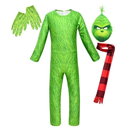 Petainer Disfraz Halloween Navidad Cosplay Costume con Máscara Bufanda y Guantes