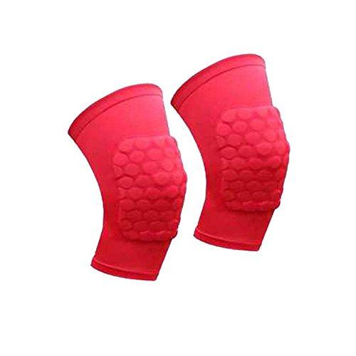 Knieschützer lindert Schmerzen Protective Pad Kniestütze Protector (Red)