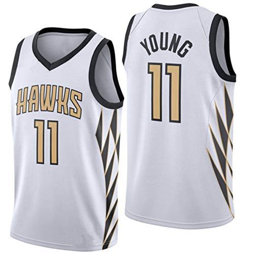 Atlanta Hawks, 11# Eagles Baloncesto Bordado, NBA, Baloncesto la formación Deportiva con Cuello en V sin Mangas del Chaleco,11 City White,L=52