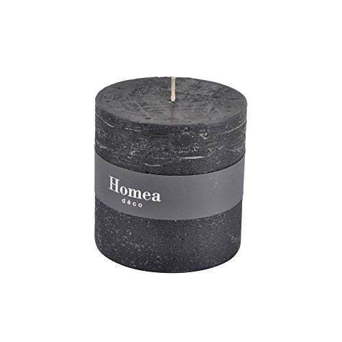 homea 6bpc021nr Kerze Zylindrische Paraffin schwarz 10x 10x 10cm