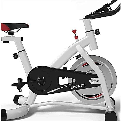 Bicicletas de Ejercicio Bicicletas de Interior con transmisión por Correa con Resistencia magnética Bicicletas de Ejercicio Bicicletas estáticas Equipo de Ejercicio y Fitness-Blanco