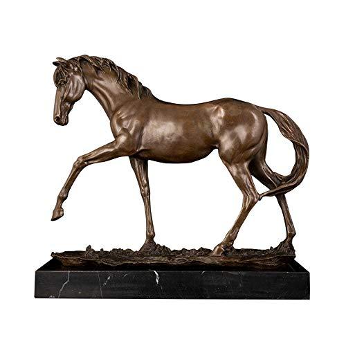 Fasha - Escultura de adorno para jardín, estatua de caballo salvaje, tamaño pequeño, decoración de oficina, ideal para regalos colección de recuerdos, mobiliario de casa, oficina y sala de estudio