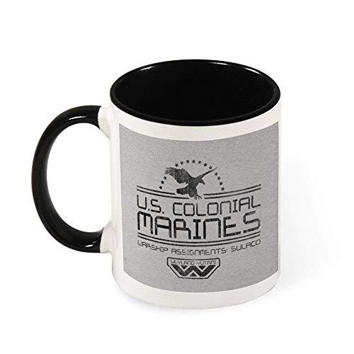 IUBBKI Taza de café de cerámica de Alien US Colonial Marines, regalo para mujeres, niñas, esposa, mamá, abuela, 11 oz