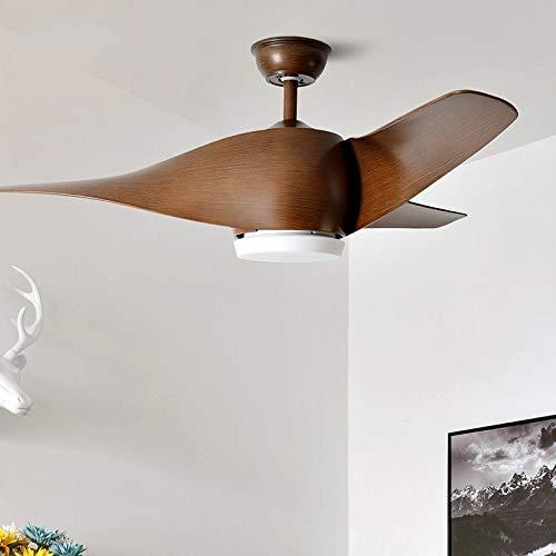 LIPENLI 110V 220V 52 pulgadas Retro Fans de techo Ventiladores con luces Control remoto Frecuencia Dormitorio Decoración Lámpara Ventilador Lámpara Vintage LED (Blade Color : 3)