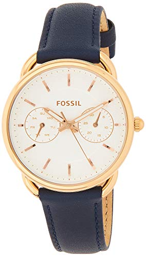 Fossil Damen Analog Quarz Uhr mit Leder Armband ES4260