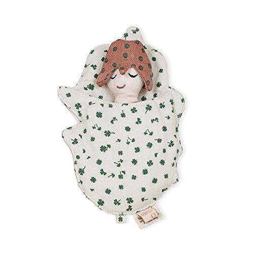OYOY Mini - Set aus Puppe/Puppen Schlafsack Ella the Elf für Kinder Jungen Mädchen - Braun Bio Baumwolle - 20x13 cm