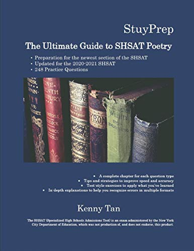 The Ultimate Guide to SHSAT Poetry: 248 Practice Questions for the newest section of the Specialized High Schools Admissions Test