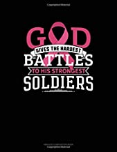 God Gives The Hardest Battles To His Strongest Soldiers: Unruled Composition Book
