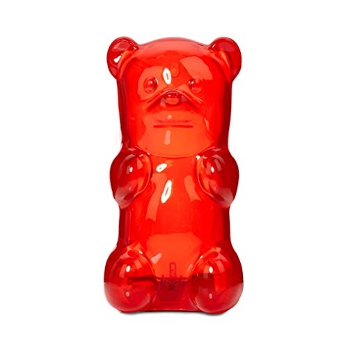 Gummygoods Squeezable Gummy Bear Night Light for Kids, Babies, Toddlers, Portable and Cordless, with 60 Minute Sleep Timer, Perfect Gift, Red