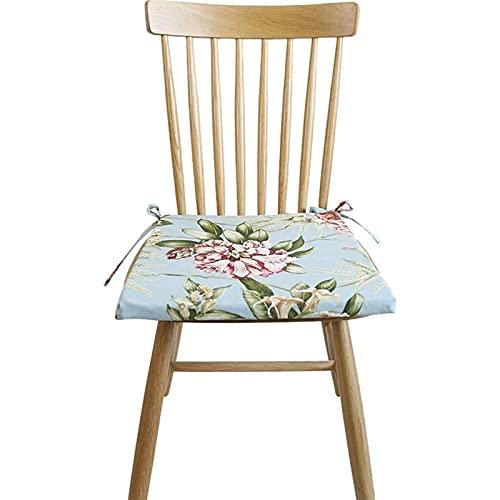 TYHZ Cojines Para Sillas Cojín de silla de tela de lino de lazos, almohadillas para sillas de comedor de alojamiento de asiento, colores surtidos adecuados para la cocina de la oficina en el aula coji