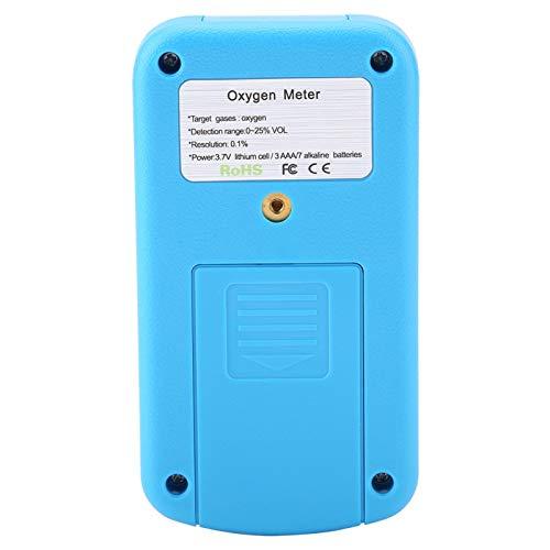 Rilevatore di perdite di gas, display digitale portatile blu 803 rilevatore di gas di ossigeno per centrale elettrica metallurgica, chimica, miniera, tunnel, metropolitana