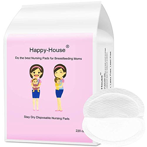 Lowest Price! Happy-House 220 Counts Stay Dry Disposable Nursing Pads for Breastfeeding