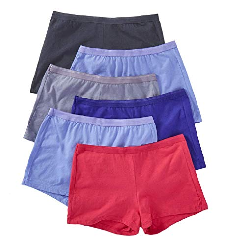 Fruit of the Loom Women's Cotton Shortie Panties - 6 Pack 6DSHTA1 6 Assorted