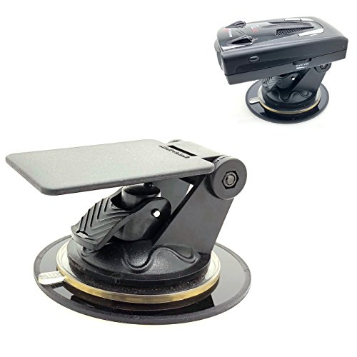 ChargerCity Universal Radar Detector Dashboard Windshield Suction Mount for Escort MAX360C Passport IX EX RED Cobra RAD Uniden R1 R3 R7 DFR6 Whistler XTR Radenso SP XP Radar DetectorPATENT Pending