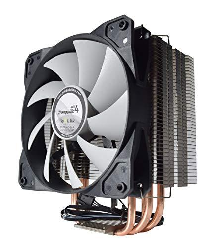Gelid Solutions TRANQUILLO 4 CPU 4 heatpipes Kuehler 775/1150/1155/1566/1366 und AM2 AM3 Opteron Phenom II120 mm Luefter PWM 12dBA
