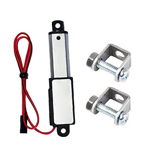 Berrywho Automatización Industrial Motion Controlmicro Actuador Lineal Mini eléctrico Impermeable con Soportes de Montaje 12V 60N Longitud de Carrera 30mm Velocidad 15mm