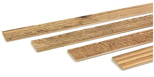 Wodewa - Listón de madera para pared (1 m, 30 x 4 mm, para manualidades)