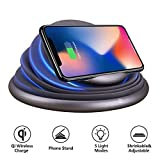 Wireless Charger,COSOOS Wireless Charging Stand Compatible with iPhone 11 Pro Max/11/Xs MAX/XR/XS/X/8/8 Plus,10W for Samsung Galaxy S10+,Note 9/S9/S9 Plus/Note 8/S8, Mood Night Light